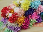 280Pcs Pearl Effect Artificial Flower Stamen Tips Buds Double Head Cotton String