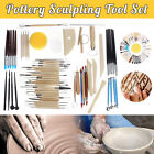 Pottery Clay Sculpture Sculpting Carving Modelling Ceramic Hobby Craft Tools Set image