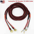 New 12AWG Audiophile Hiend Hifi Banana AMP Speaker Wire Cable US