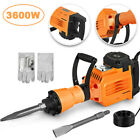 2200W/3600W Electric Jack Hammer Breaker Concrete Demolition Punch 2Chisel Bits.