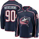 Elvis Merzlikins Columbus Blue Jackets Fanatics Branded Home Breakaway Player