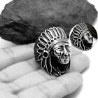 NEW Indian Chief Head Silver Ring Band Wrap Rings Men's Jewelry Man Fashion Gift
