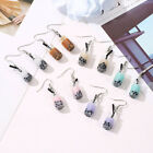 Women's Bubble Tea Drink Dangle Long Ear Hooks Earrings Jewelry Gift Novelty