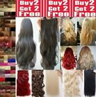 CLEARANCE Hair Extensions Half Head Curly Straight feels real Chestnut browns