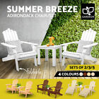 Gardeon Outdoor Chairs Table Set Beach Chair Patio Furniture Adirondack Lounge