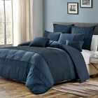7 Piece Josiah Midnight Blue Comforter Set image