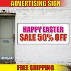 HAPPY EASTER Banner Advertising Vinyl Sign Flag decor SALE 50% OFF egg hunt shop