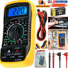 Digital LCD Multimeter Voltmeter Buzzer Tester Ammeter OHM AC DC Current Circuit