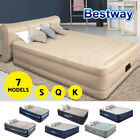 Bestway Air Bed Premium Beds Queen Inflatable Mattress Built-In Electric Pump