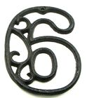 """Cast Iron House Street Address Numbers Rustic Craft Indoor Outdoor Decor 4-5/8""""H"""
