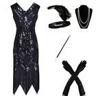 1920s Flapper Dress Great Gatsby Party Sequins Fringed Dresses Gown Plus Size