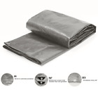 Waterproof Tarp Cover Poly 5 Mil Thick Multi-Purpose Gray Reinforced Corners