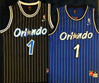 NWT Penny Hardaway #1 Orlando Magic Black OR Blue Mens Throwback Stitched Jersey