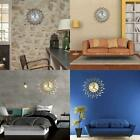 Creative Wall Clock Retro Wrought Iron Mute Leaves Floral Round EH7E