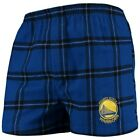 Golden State Warriors Concepts Sport Homestretch Flannel Boxer Shorts - Royal on eBay