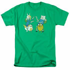 Adventure Time Meet Up T Shirt Mens Licensed Cartoon Merch Finn Jake Green