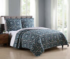 3 Piece Brie Teal/Gray Quilt Set image
