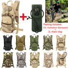 15L Hydration System Backpack FDA 3L Water Bag Survival Pouch Cycling Outdoor US