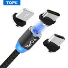 TOPK Magnetic Cable Type C Micro USB Lightning Magnet Charger for iPhone Android