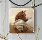 LOVE IS FOR HORSES TOO PENDANT NECKLACE 3 SIZES CHOICE -urj7X