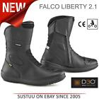 Falco LIBERTY 2.1 Motorcycle Unisex Waterproof Textile Boots│Black│All Sizes