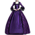 UK Womens Gothic Dress Vintage Medieval Renaissance Retro Sty Cosplay Cocktail