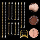 12Pcs Silver & Gold Stainless Jewelry Steel Necklace Bracelet Extender Chain Set