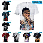 YoungBoy Never Broke Again Rapper 3D T-Shirt for Men Women Round neck top Tee US image