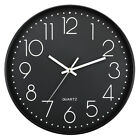 Wall Clock Silent Morden Non-Ticking Quartz Battery Operated Round Easy to Read