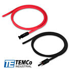 Solar Panel Extension Cables (1Red-1Black Cable with Connectors) Made In USA $8.99 USD on eBay