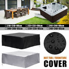 US 6 Size Portable Hot Tub Spa Cover Outdoor Waterproof Dust Protector   !