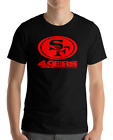 SAN FRANCISCO 49ERS BLACK T-Shirt RED Graphic Cotton Adult Logo  S-2XL $12.49 USD on eBay