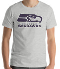 SEATTLE SEAHAWKS football T-Shirt LOGO Graphic Cotton Adult Unisex tee S-2XL $12.49 USD on eBay