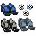3MM Sponge Padding Car Seat Covers W/4 HeadRest/Steering Wheel Covers For Ford $27.49 USD on eBay