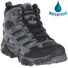 Merrell Moab 2 Mid GTX Mens Grey Leather Waterproof Walking Boots Size 7-13