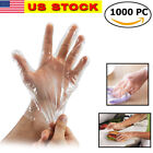 1000pcs Plastic Gloves Food Cleaning Catering Protective Hand