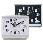 Small Square Alarm Clock Quartz Table Desk Bedside Non-Ticking Analogue Snooze