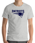 New England Patriots GRAY T-Shirt navy Graphic Cotton Adult Logo  S-2XL $12.49 USD on eBay