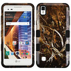 FOR LG LG TRIBUTE HD/X STYLE TUFF IMPACT CASE HYBRID RUBBER SKIN RUGGED COVER