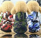 New Small Pet Dog Camouflage Hoodie Sweater Puppy Camo Coat Top Clothes Apparel
