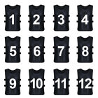 TopTie Sets of 12  1-12, 13-24 Numbered / Blank Training Vest, Soccer Pinnies
