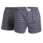 Tom Tailor Men's Woven Boxer Shorts, 2er Pack - Pure Cotton, Westside C, Checked