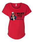 Women's Funny Uncle Sam I Want You To Stay 6 Feet Away Ladies Fit Dolman Shirt