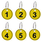 Aspire 50 PACK ABS Key Tags with Ring, Numbered ID Tags Keychain