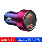 Car Phone Charger 45W QC USB C Suitable For Xiaomi Huawei Samsung Wireless Mount