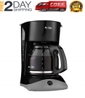 12-Cup Coffee Maker 900W - Black/Stainless Steel New anh Freeship