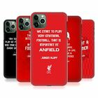 OFFICIAL LIVERPOOL FOOTBALL CLUB KLOPP QUOTES BACK CASE FOR APPLE iPHONE PHONES