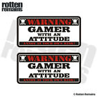 Gamer Warning Decal Sticker SET PS3 XBox PS2 PS4 Wii Video Game EMV