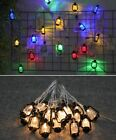 20/30/40LED Outdoor String Light Vintage Retro Style Water Oil Lamp Garden Decor