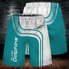 Miami Dolphins Summer Beach Shorts Men's Cool Loose Sport Shorts Swim Trunks